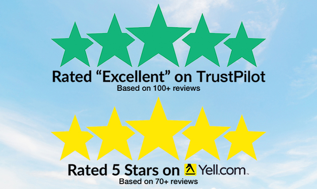 Blue sky with clouds 5 star ratings